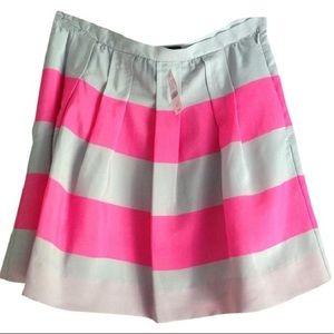 Women's NWT size 14 j.crew wide stripe mini skirt